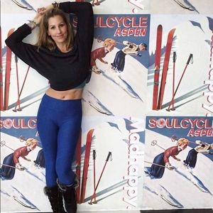 Blue Outdoor Voices 3/4 Warmup Legging